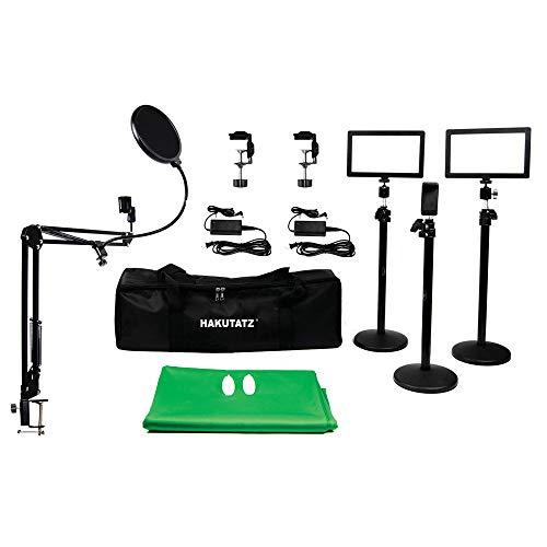 HAKUTATZ® Profi Fotostudio Set Hintergrundsystem mit Schutztasche Studiosets (HK-10)