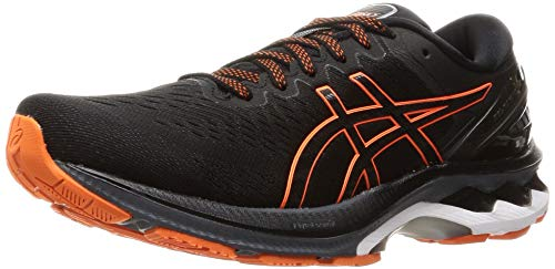 Asics Gel-Kayano 27, Road Running Shoe Hombre, Black/Marigold Orange, 42.5 EU 🔥