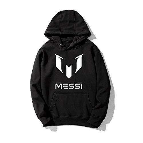 WYNBB Sweatshirt Barcelona Lionel Messi 10 Fan Hoody Geschenk für Fußballfans Liga Phänomen Kapitän Herren,BLACK1,L/168-175CM