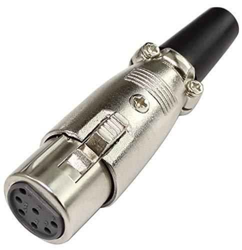 AERZETIX: Conector XLR - 7 Pines - Enchufe Hembra - Metá