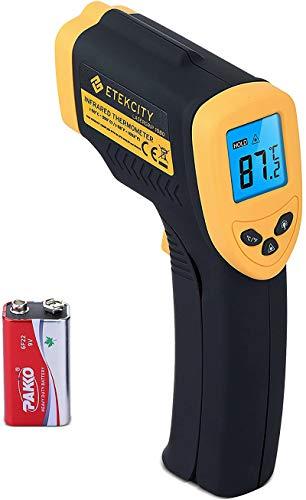 Etekcity Digital Laser Infrarot Thermometer -50 bis +550°C, IR Pyrometer berührungslos Temperaturmessgerät Temperaturmesser, LCD Beleuchtung (Nicht für Menschen)