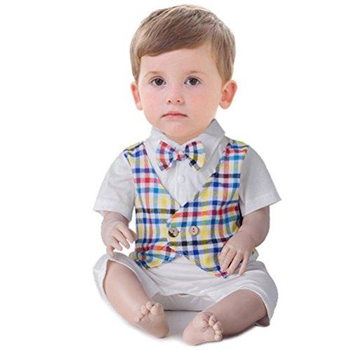 Odziezet Baby Jungen Anzug Kurzarm Strampler mit Hosenträger Outfits Sommer 3-18 Monate