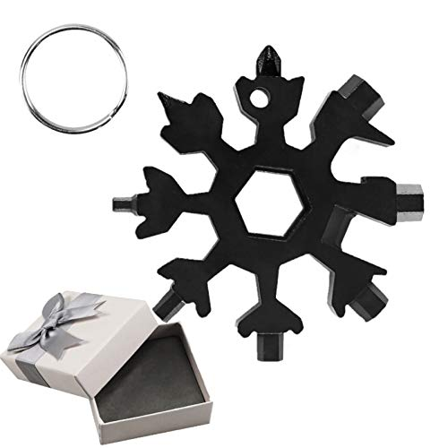 Snowflake Multi-Tool Stainless Steel Snowflake Keychain Tool Snowflake Screwdriver Tactical Tool for...