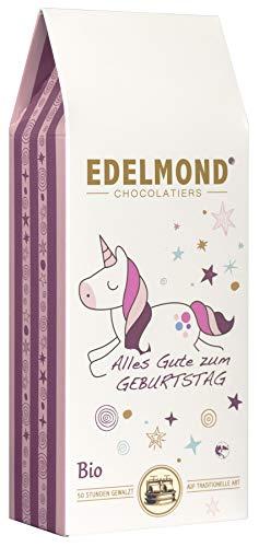 Edelmond Einhorn Bio. Tolle Frucht Schokolade, ein liebes Geschenk für Mädchen oder die Freundin. Ohne Farbstoffe zum Kinder Geburtstag. 125 gr.
