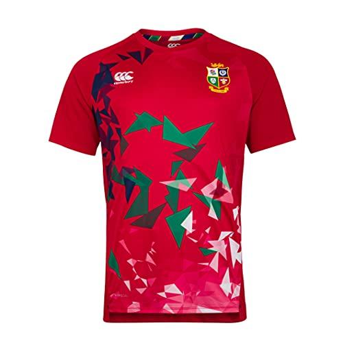 Canterbury Herren British and Irish Lions Rugby Superlight Graphic T-Shirt, Rot - Tango Red, M