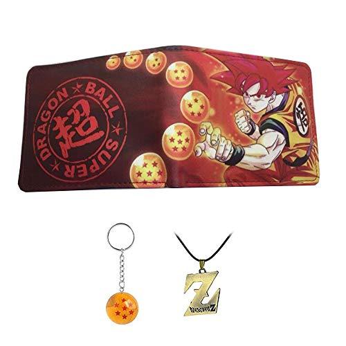 Anime Dragon Ball Z cartera de los hombres y las mujeres jóvenes estudiantes cortos carteras japonesas de dibujos animados comics monedero