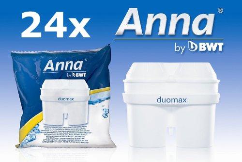 24 Anna Duomax Wasserfilter Kartuschen passend auch für Brita Maxtra