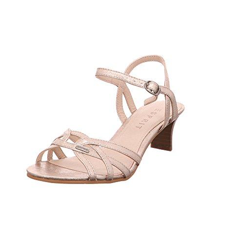 ESPRIT Damen Sandaletten Birkin Sandal 038EK1W004-280 Gold 444472