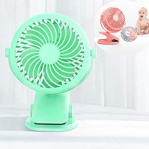 Gxet Escritorio Ventilador Recargable La batería del Ventilador Personal 720 ° de rotación Sin Escala Velocidad del Ventilador de Tabla Reglamento 2000mAh Tranquila con Pilas Ventilador,B