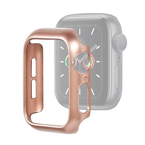 Idealeben Custodia Protettiva per Apple Watch 40 mm, Custodia Protettiva Compatibile con Apple Watch Series 5/4 -Oro Rosa, Custodia Protettiva Leggera, Custodia per PC Ultra Sottile