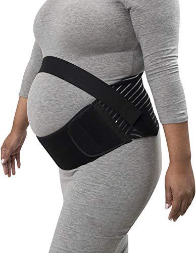 Newlemo Fascia Gravidanza, Sostegno Gravidanza - Allevia la Pressione, la Schiena, Il Dolore Pelvico, l'anca, Cintura di maternità Delicato sulla Pelle e Traspirante