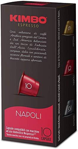 Kimbo Capsule Napoli Compatibili Nespresso, 60 Astucci da 10 capsule (totale 600 capsule)