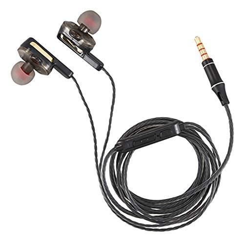 Gfhrisyty Auriculares con cable Auriculares auriculares con aislamiento de ruido en la oreja para PC portátil Tablet Smartphone