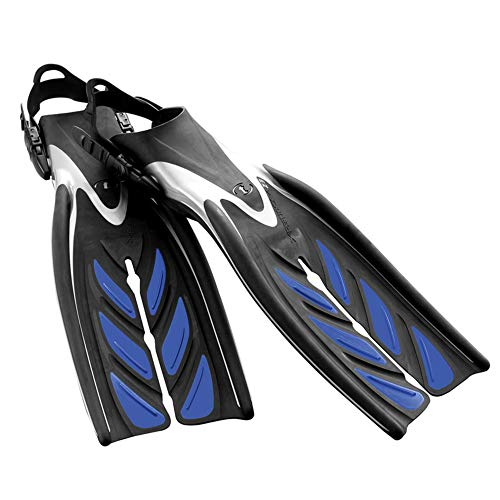 TUSA SF-15 X-Pert Zoom Z3 Open Heel Scuba Diving Fins, L-XL, Cobalt Blue