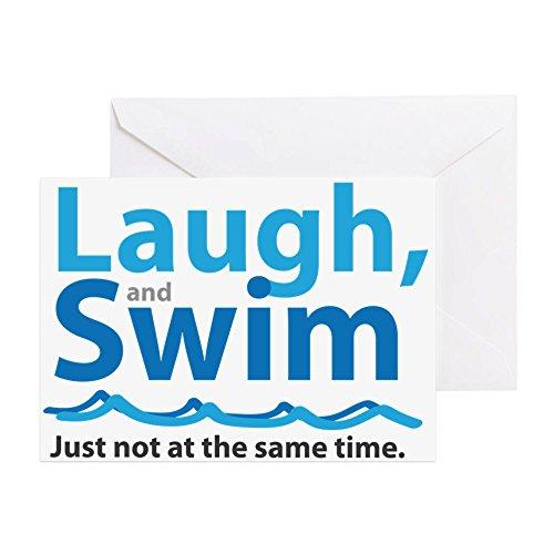 CafePress–Lachen und Schwimmen–Grußkarte, Note Karte, Geburtstagskarte, innen blanko, glänzend