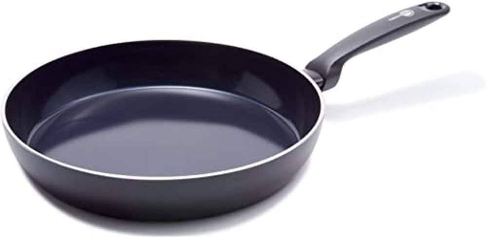 GreenPan Sartén Antiadherente de Cerámica, Apto para Todo Tipo de Cocinas, Inducción, Horno y Lavavajillas, 24 cm, Negra