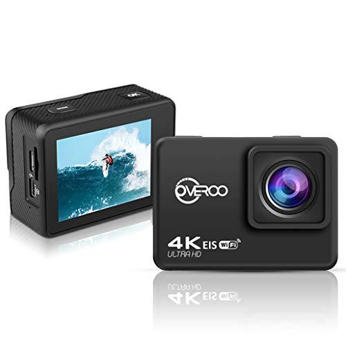 OVEROO Action Cam telecamera di azione ultra HD 4K @60fps impermeabile 30MT Telecomando EIS Subacqueo stabilizzazione videocamera 170° grandangolare con time Lapse batteria 1050 mah