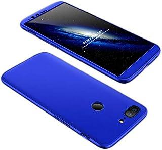 OnePlus 5T Case, fashion ultra Slim Gkk 360 Full Protection Cover Case - Blue
