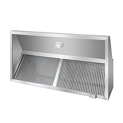 PEIHAN 47-Zoll-Kabinett-Dunstabzugshaube Küchenabzugshaube, in Dunstabzugshaube für Abluft, mit permanenten Edelstahlfiltern