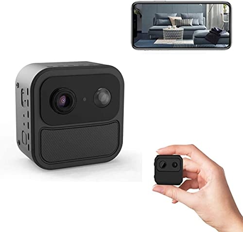 Hidden Camera WiFi Spy Camera 4K Mini Wireless HD PIR Motion Activated Low Power Stand by 60 Days Nanny Cam Small Spy Cam with Phone App Night Vision for Pet Office Home Outdoor
