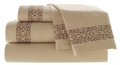 Croscill Home Fashions Jovanna 4-Piece Sheet Set, King, Butter