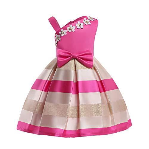 XIEPEI New Girl Kleid, Pearl Flower Girl Kleid, One-Shoulder Strap Dress