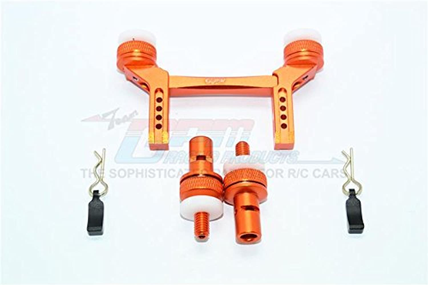 Traxxas TRX-4 Trail Defender Crawler Upgrade Parts Aluminum Front & Rear Magnetic Body Mount - 1 Set orange