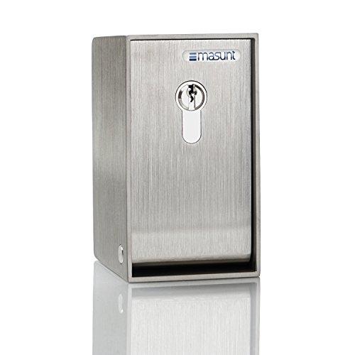 Schlüsseldepot Profilzylinder M3 45PZ (V4A) – der kompakte Schlüsselsafe zur Schlüsselhinterlegung, extra korrosionsgeschützt, inklusive Halbzylinder