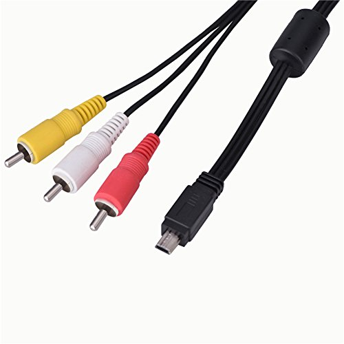 Eboxer Mini USB Video Audio Cable AV a 3 RCA para Canon Cámara IXUS 990 IS 980 IS 970 IS 870 IS 200