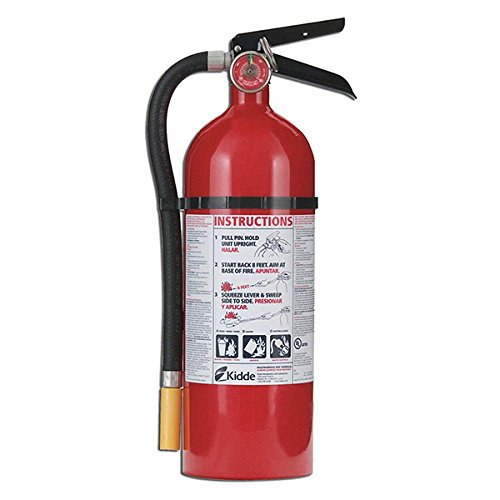 Kidde 466425 Multi-Purpose Fire Control Fire Extinguisher, UL rated 3-A, 40-B:C, Easy to Read Gauge, Easy to Pull Safety Pin