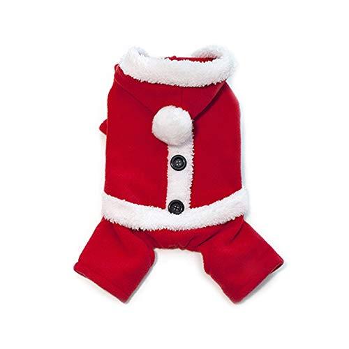 XDRE Ropa para Mascotas Santa Claus Perro Disfraz de Invierno Clido Fleece Pequeo Pequeo Perro Perro Caballo Chihuahua Bulldog Francs Navidad Pea Perros Ropa Ropa para Perros