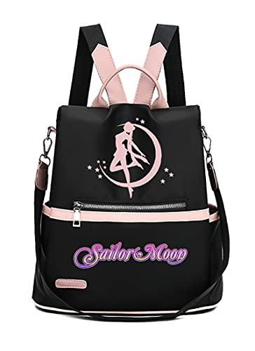 Kalodity Mochilas infantiles Sailor Moon - Mochila Escolar para Niñas...