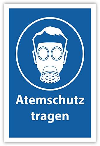 SCHILDER HIMMEL anpassbares Atemschutz tragen Schild 21x15cm Kunststoff, Nr 502 eigener Text/Bild verschiedene Größen/Materialien