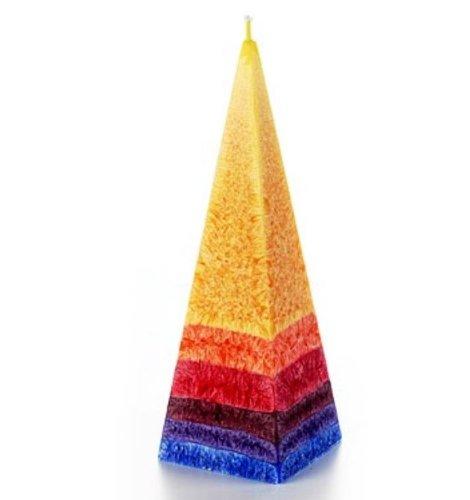 °*5003 Kerze in Pyramidenform - Regenbogen