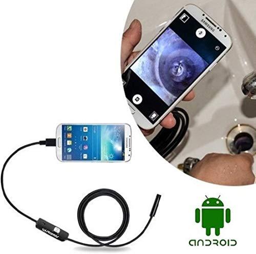 Cámara endoscópica premium de 3,5 mm, cámara de inspección de teléfono móvil, resistente al agua, cámara de inspección con LED, para dispositivo de tablet Android y smartphone, 2 metros