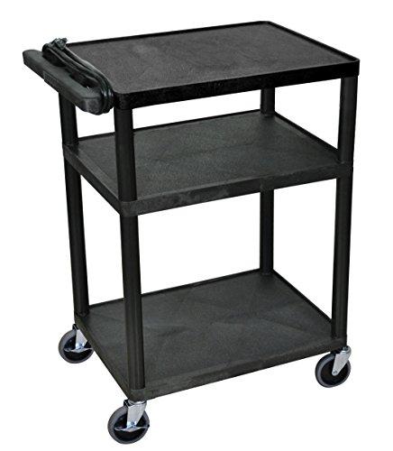LUXOR LP34E-B Presentation Cart, 18' D x 24' W x 34' H
