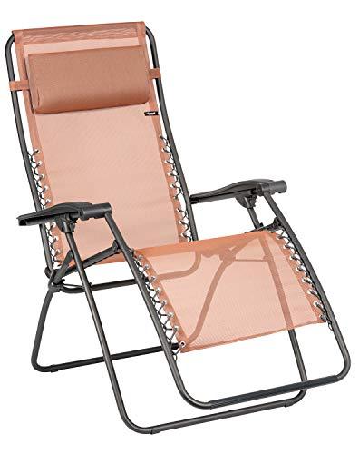 Lafuma Relax-Liegestuhl, Klappbar und verstellbar, Mit Schnürsystem, RSXA, Batyline, Terracotta