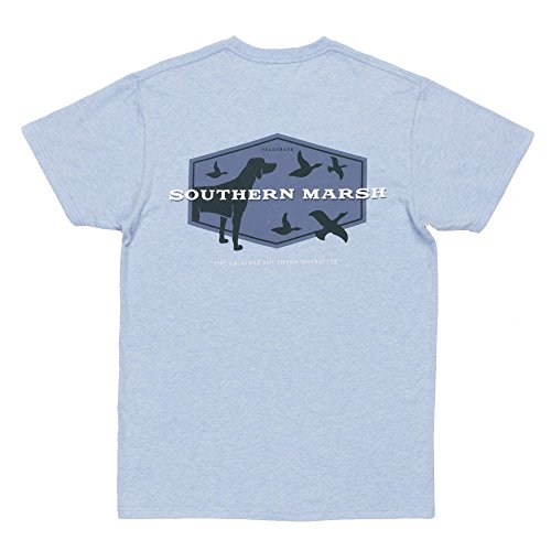 Southern Marsh Branding - Hunting Dog, Washed Sky Blue, Small