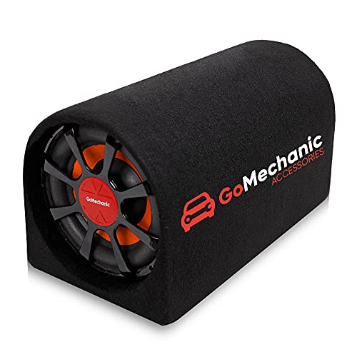 GoMechanic Rumble-R1 8 Inch 3000W Car Active Bass Tube Subwoofer Bass Tube with Built-in Amplifier