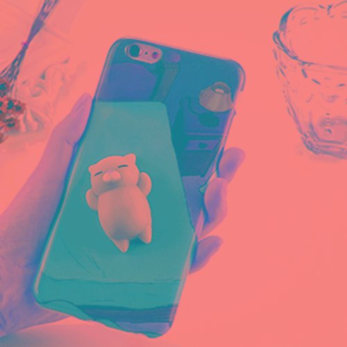 FATEGGS Accesorios para teléfonos móviles para iPhone 6 Plus y 6S más 3D Lovely Cat Pattern Squeeze Relieve IMD Mano de Obra Squishy Drop a Prueba de contraportes Funda Atrás Casos Cubre