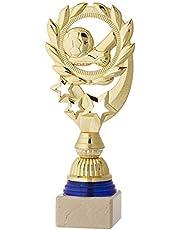 Art-Trophies 4137-2 Trofeo Deportivo, Dorado/Azul, 22 cm
