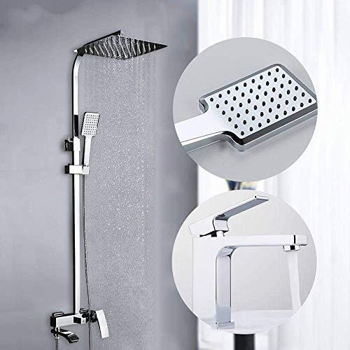 DXX-HR Conjunto de Ducha Grifo de Ducha torneira do anheiro Cascada Cabezas de Ducha de Baño Sistema de Ducha de Latón Baño Mezcladores