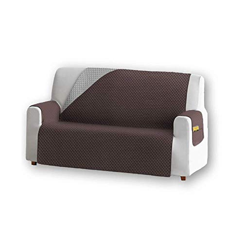 Unishop Funda de Sofa Protector de Sofá Cubre Sofá Bicolor Protector para Sofás Acolchado Reversible para Mascotas Muebles Polvo...