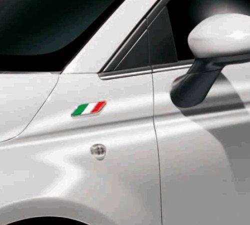 Fiat Pegatina original para Fiat 500 con diseño de la bandera italiana