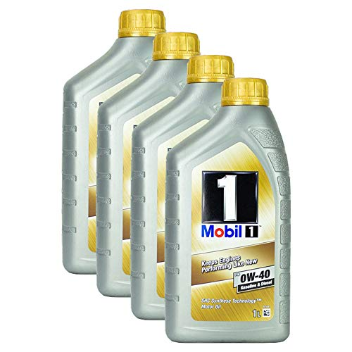 Mobil 1 Fs 0w-40 Motorolie, 1 liter, shc synthese, diesel, benzine, hoge capaciteit, duurzame motorolie, one-protector, formule, shc, koude start, motorbescherming, lange levensduur