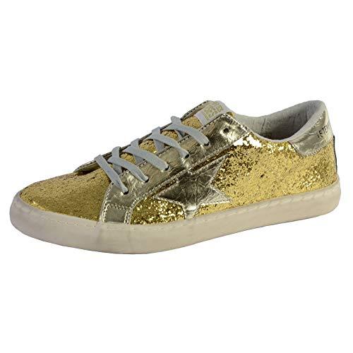 Le Temps des Cerises Damen City Sneaker, Gold, 39 EU