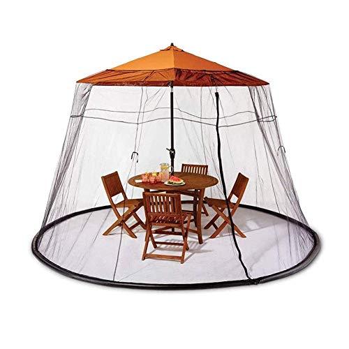 7.5ft Außenpatio Regenschirm Mosquito Tisch Schirm-Abdeckung Moskito-Wanzen-Insekt-Net Perfekte Abdeckung for diejenigen Sommer Nachmittag und Abend Grill, Großer Reißverschluss Eingang for einfachen