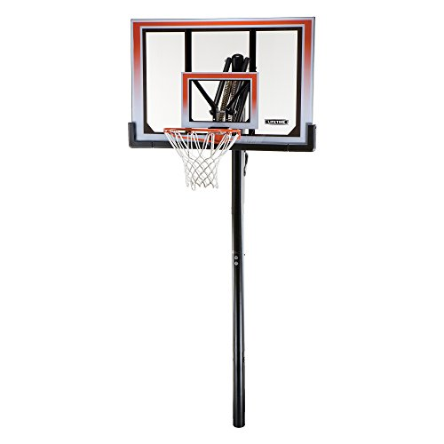 Lifetime 71799 In-Ground Basketball System with 50-Inch Shatter Guard Backboard