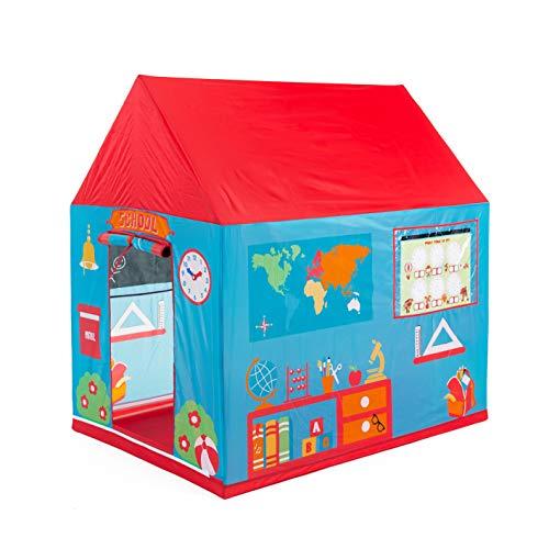 Pop it Up - Tente / Maisonette de Jeux - Ecole avec des cartes d'apprentissage