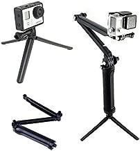Taoric 3-Way Grip, Arm, Tripod Mount Tri-fold Selfie Stick Accessories for Gopro Hero 8 7 6 5 4